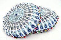 2 PC Indian Floor Pillows Mandala Ottoman Poufs Ethnic Large Cushion Cover Throw