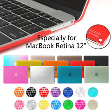 "For MacBook Retina 12"" Inch A1534 Rubberized Hard Case &Silicone Keyboard Cover"