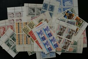 Canada lot of 33 different F/VF MNH plate blocks with HIGH CAT values (v472)