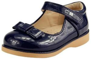 Girl's School Dress Classic Shoes  Mary Jane Glossy Blue Navy, Red Color Toddler