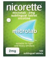 Nicorette Original Microtab 2 mg 100 Tablets Stop Smoking Aid