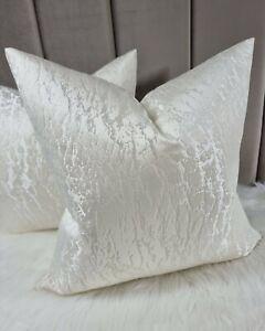 Hamlet Ivory Cushion Cover Luxurious Satin Ivory Prestigious Textiles