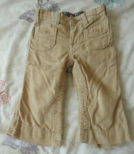 Baby Gap Girls Beige Trousers With Pockets 12-18 Months