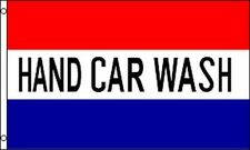 10 Pack - 3x5 Ft Advertising Business Sign Flag - Hand Car Wash red white blue f