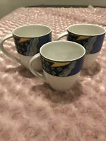 Set Of 3 Christopher Stuart Optima Super Strong Fine China RAVE Mugs & Flat Cup