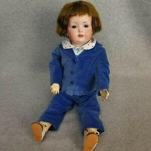 """18"""" antique bisque head composition German Bahr & Proschild Boy Doll  """"TLC"""""""