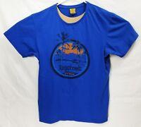 Tangalooma Island Resort Australia Men T-Shirt Blue Size L EUC Made in Australia