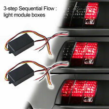 Universal Car 3-Step Sequential Flow Dynamic Chase Flash Tail Light Module Boxes
