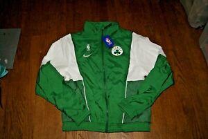 NBA Nike Boston Celtics Loose Fit Jacket Sz S M XXL Green White Bird Pierce