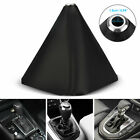 Universal Car Shift Knob Shifter Boot Cover Diy Black Pvc Leather Mt At Sport