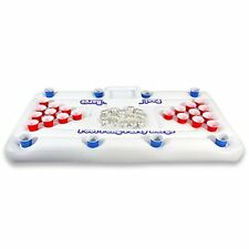 Best Pool Party Barge Floating 10 Cup Beer Pong Pong w/ Built in Cooler - 6 Feet