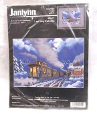 """Janlynn Last Stop Caboose Counted Cross Stitch Kit #02-451 NIP 13"""" x 9"""" Bin R"""