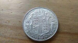 1927 HALF CROWN GEORGE V BRITISH SILVER COIN HIGH GRADE