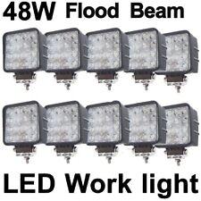 10X 48W Flood LED Off road Work Light Lamp 12V 24V Car Boat Truck UTE 4X4 4WD
