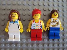 Lego Minifig ~ Mixed Lot Of 3 Female Queen Maiden Princess Girl Town Ladies #tk5