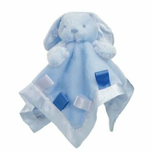 Baby Blue Bunny Plush Comforter with Ribbons