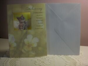 Designer Greetings - Cat Sympathy - Kitty with wings