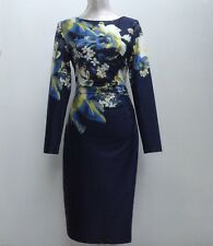 Floral Dress with Ruched Side by KaleidoscopeGreen & Yellow  - UK 8          D26
