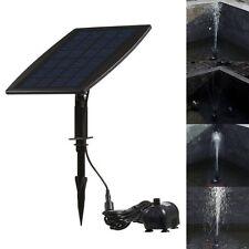 Black Solar Power Water Pump Panel Kit Fountain Pool Garden Submersible Watering