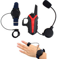 X3plus Motorcycle Helmet Wireless Walkie Talkie IP54 2Way Radio UHF PTT Control