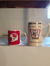 Wisconsin Badgers Rose Bowl Mug 1993 and a Badger coffee cup