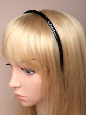 fin plastique noir avec noir pierre gemme détails Serre-tête bande cheveux ECOLE