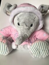 Elliot & Buttons Daughter Plush Elephant Christmas Winter Pink Jumper Teddy 30cm