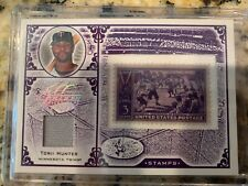 2005 Leaf Century Collection Torii Hunter Stamps/Jersey Card /39