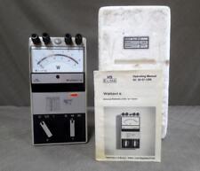 Hartmann & Braun Elima Wattavis S Analog AC Powermate w/ Manual