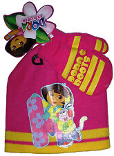 DORA THE EXPLORER & BOOTS~HOT PINK HAT AND MITTENS SET~ONE SIZE~NEW W/TAG~XMAS