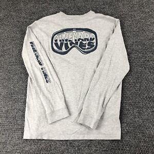 Vineyard Vines Youth XL (18) Pocket T-Shirt Cotton Long Sleeve Ski Goggles Gray