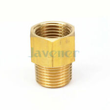 "1/2"" NPT Male x 1/2"" BSPP Female Brass Pipe Fitting Connector For Pressure Gauge"