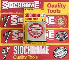 SIDCHROME RARE VINTAGE 10ft/3m TAPE RULE measuring tape NOS MADE IN AUST 4919-7