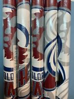 NHL Wall Paper Boarder Roll Colorado Avalanche 10 Inch Made In Canada 5 Yards +?