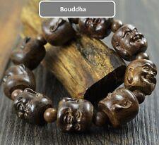 Magnifique Bracelet Bouddha Rieur en Bois de Santal