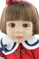 "24"" Vinyl Silicone Toddler Bebe Reborn Baby Girl Doll Lifelike Newborn Toy Gift"