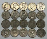 Eisenhower Ike Dollar Coin Lot - 20 Coins - ($20 Face Value)