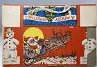 Vintage Santa Claus Animal Cracker String Handle Christmas Candy Cookie Box NOS