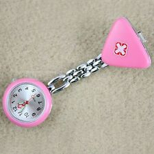 Triangular Nurse Watch Pink Clip-On Ladies Womens NEW