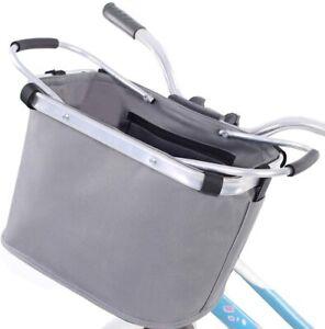 Foldable and Removable Carrier Bag for Front Handlebar, Bike Basket, Cycling Det