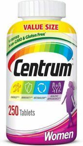 Centrum Multivitamin for Women, Multivitamin/Multimineral Supplement, 250 Count