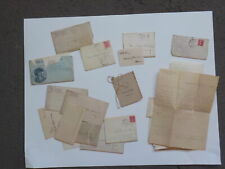 17 Antique Letters 1800s Logansport Indiana Collection Papers Lot VTG Covers NR