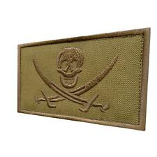 Calico Jack skull DEVGRU tan coyote army operator ISAF Jolly Roger parche patch