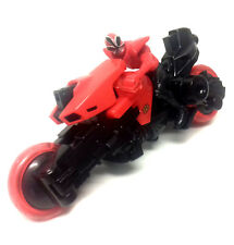 "Power Rangers Samurai RED RANGER 7"" long toy action figure Bike vehicle"