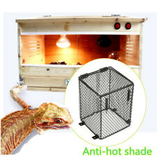 12x12x16cm Reptile Heat Lamp Light Bulb Mesh Cage Guard Enclosure Snake Lizard