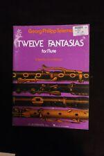 Telemann Twelve Fantasias for Solo Flute Woodwind Method New 050335080