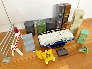 Large WWE Accessories Job Lot Collection Wrestling Figures WWF Barrier Stretcher
