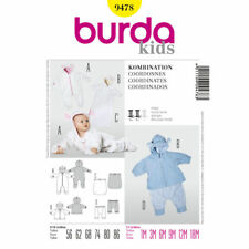 Burda Kids SEWING PATTERN 9478 Baby Jacket,All In One Suit & Trousers 1m-18m