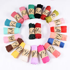 Women Solid Chiffon Scarf Hijab Islamic Muslim Turban Scarf Shawls Multicolors