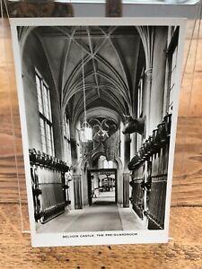 vintage postcard - belvoir castle ( pre guardroom ) unused !